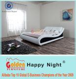 Goldene Möbel-falsches Raum-Möbel-Entwurfs-Leder-Bett