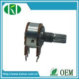 Potenziometro doppio di Roatry del gruppo di Wh148-1b-1 16-17mm con il Pin 6