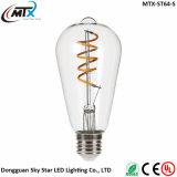 Bulbo de la vendimia de la lámpara de filamento de E27 E26 3W ST64 LED Edison