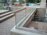 Het openlucht Traliewerk van het Glas van het Kanaal van U van het Balkon, Balustrade van het Kanaal van het Aluminium de U Gebaseerde voor Trede