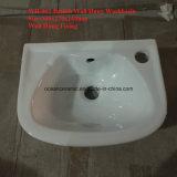 Le petit bassin de toilettes, type britannique, colore le lavabo arrêté par mur