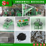 Schlüsselfertiges automatisches Krume-Gummigummireifen-Abfallverwertungsanlagegab 1-6mm die sauberen Gummikörnchen aus