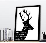 Tierkarikatur-Segeltuch druckt Bilderrahmen für Wand-Dekoration