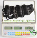 I capelli umani profondi dell'onda 100% dei capelli di estensione 105g (+/-2g) /Bundle dei capelli brasiliani naturali Labor non trattati del Virgin tessono il grado 8A