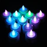 com luz recarregável da vela do chá do diodo emissor de luz da decoração de controle remoto