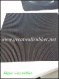 Gw3011 multam folha de borracha com nervuras com a folha ISO9001 de borracha antiderrapante