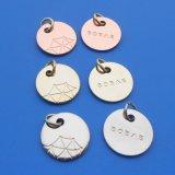 De manier Gegraveerde Echte Zilveren Charmes van de Douane/de Markeringen van Juwelen