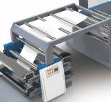 Stampatrice flessografica del taccuino di carta della bobina con l'alimentatore del coperchio