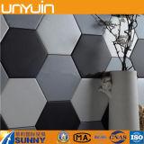 Подгонянный высоким качеством настил плитки PVC шестиугольника