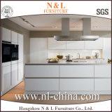 Gabinetes de cozinha envernizados brancos do lustro elevado