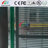 屋内および屋外のための透過ガラスのLED表示壁