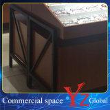 Cabina de madera de la exposición de los vidrios del escaparate de los vidrios de la cabina de visualización de los vidrios (YZ160402)