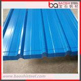 Hoja del material para techos de PPGI/azulejo de azotea acanalados galvanizados cubiertos color