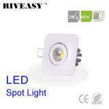 projector de alumínio do diodo emissor de luz da ESPIGA 3W mini com Ce&RoHS