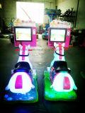 Die heißen Verkaufs-Kinder, die Kinder elektrisches der Kind-Spiel-Schwingen-Maschinen-3D Pferden-2D des Bildschirm-3D reiten, schwingen goldenes Pferd