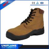Ботинки безопасности Ufb053 шнурка Split кожи замши верхние