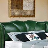 침실 사용 (FB3070)를 위한 녹색 가죽 연약한 침대