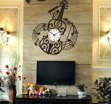 Reloj de pared plástico de la guitarra para el regalo promocional