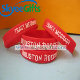 Moderne geprägte Wristbands-Silikon-Armbänder für Geschenk