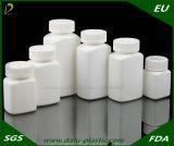 Бутылка пластмассы HDPE фармацевтических химикатов белая