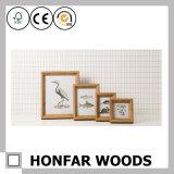 Cadre de tableau en bois réel de Rusitic/cadre de tableau élégant minable pour l'étalage de bureau