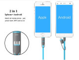 Nueva llegada 2 en 1 cable de carga de los datos del USB para iPhone7/Samsung