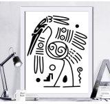 Животная холстина шаржа печатает картинную рамку для украшения стены