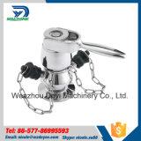 Válvula sanitária da torneira da amostra de Aspetic Ss304 Ss316L do aço inoxidável
