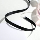 Moda 925 Sterling Silver Jewelry Necklace Black Choker