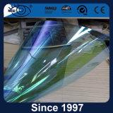 Cor solar elevada do Chameleon do indicador de carro da isolação térmica que matiza a película