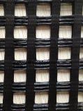 Poliestere di lavoro a maglia Geogrid del filo di ordito di Pet-120-120kn 25.4mmx25.4mm/12.7mm*12.7mm 6mx50m