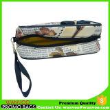 휴대용 PVC 가죽 장식용 부대 지퍼를 가진 서쪽 작풍 세면용품 부대