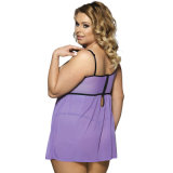 サイズの女性のセクシーなランジェリーと安くセクシーな工場価格の熱い販売のピンクか紫色