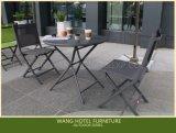 Le Tableau en aluminium se pliant et la présidence de meubles extérieurs ont placé pour les loisirs et le restaurant de Relaxe