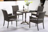 2017 cadeira nova do Rattan do estilo de vida 4piece + jardim de tabela 1piece quadrado que janta o jogo