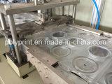 Haustier-materielles Ei-Tellersegment, das Maschine bildet