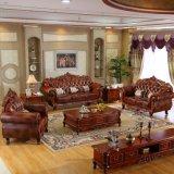 Sofá de cuero de lujo para muebles de sala de estar (929S)
