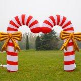 屋外の休日の装飾膨脹可能なキャンデーのアーチ