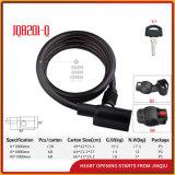 Jq8201-Q Qualitäts-Spirale-Kabel-Verschluss-Fahrrad-Verschluss mit Stahlkabel
