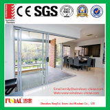 O exterior puerta deslizante de cristal enmarcada aluminio interior