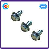 Acier au carbone 4.4 / 8.8 / 10.9 Tête de rondelle hexagonale non accrochée Têtes à autopercefort galvanisées