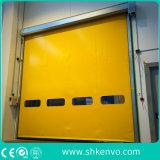 Puertas autorreparadoras del garage de la tela del PVC para las industrias farmacéuticas