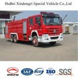 euro 4 de camion de lutte contre l'incendie de l'eau de 16ton Sinotruk HOWO