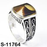 Juwelen 925 van de manier Zilveren Ring met Natuurlijk Agaat
