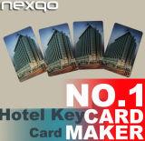 Tarjetas dominantes 1K NFC del hotel clásico de RFID MIFARE con la viruta