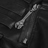 Q-322 de punker ijlt het Gotische Leer van Pu Slaand Opgeheven Mannelijke Rok