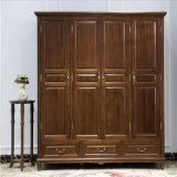 أسلوب [أمريكن] صلبة خشبيّة أربعة خزانة ثوب لأنّ غرفة نوم أثاث لازم [أس842]