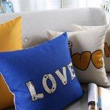 Cubiertas decorativas de lino de la almohadilla de tiro del algodón del descuento para la silla