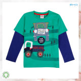 Normales Farben-Baby-Kleid-All-Over Drucken-Baby-T-Shirt