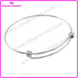 Acero inoxidable de 1,5 mm Simples Cableado ajustable Triple Loop brazalete